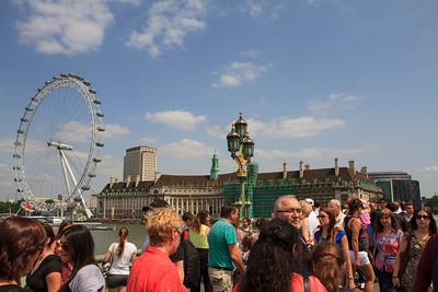 Westminster Bridge Foot Traffic