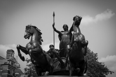 Thornycroft's Statue of Boudicca (Boudicea) and Her Daughters