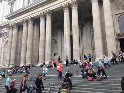 On the Steps of St Paul's