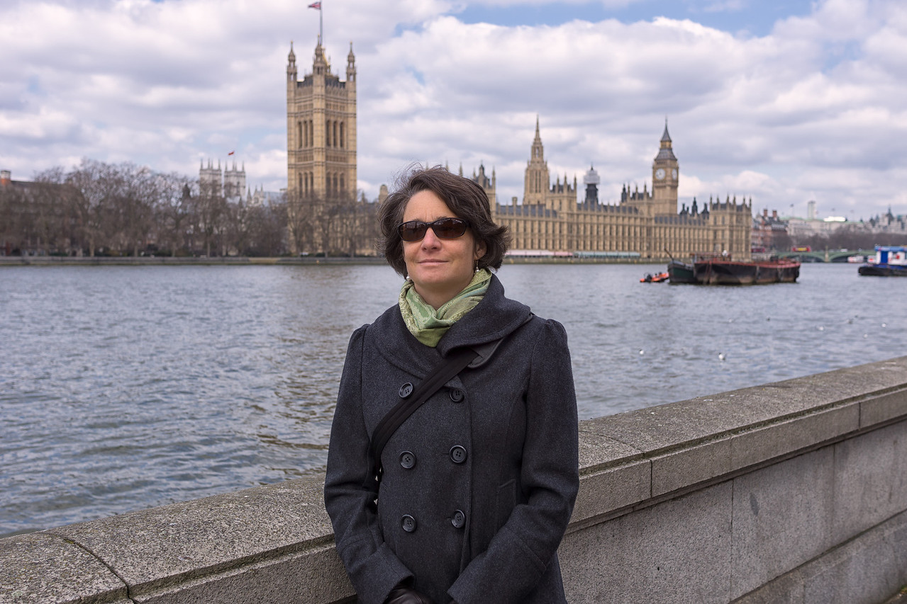 Lisa with Parliament in the background