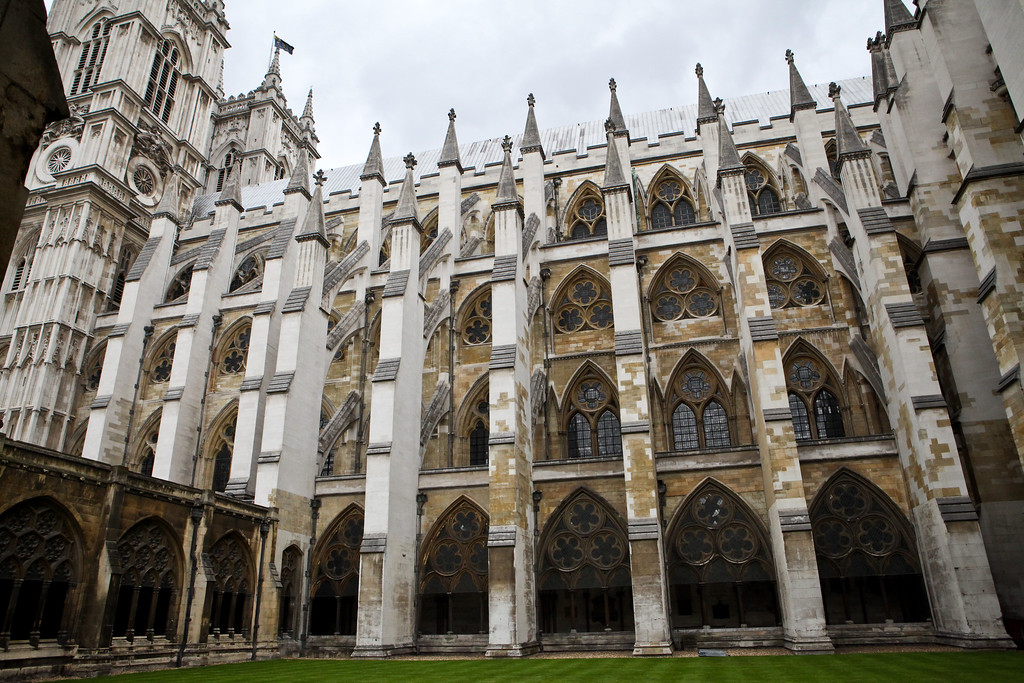 Flying Buttresses of Westminster Abby<br /> London UK June 2013<br /> Canon 5DMkII + 24-70 2.8L