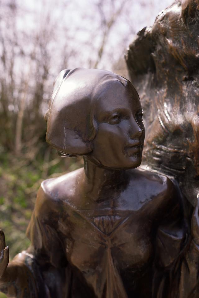 Detail of Peter Pan statue in Kensington Park