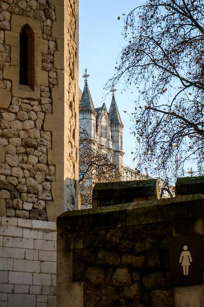 Tower Bridge peeking out