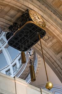 Clock in lobby