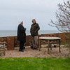 Garden gossip overlooking sea-front
