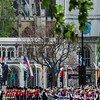 Parliament Square with the band of the Irish Guards