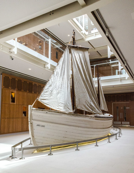 "<a href=""https://en.wikipedia.org/wiki/Ernest_Shackleton"" target=""_blank"">Ernest Shackleton's</a> <a href=""https://en.wikipedia.org/wiki/Voyage_of_the_James_Caird"" target=""_blank"">James Caird</a> in the new Science building at Dulwich College"