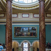 "<a href=""https://en.wikipedia.org/wiki/National_Gallery"" target=""_blank"">National Gallery</a> entrance to Trafalgar Square"