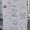 "Graffiti on gate post at <a href=""https://en.wikipedia.org/wiki/Abbey_Road_Studios"" target=""_blank"">Abbey Road Studios</a>"