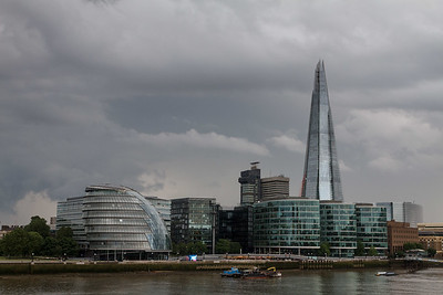 Clouds over City Hall and the Shard