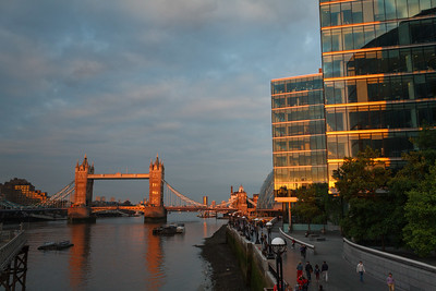 The Tower Bridge and Bankside at Sunset
