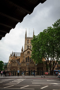 Southwark Cathedral from London Bridge Station