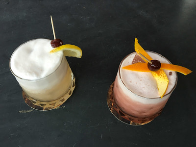 Pisco and Whisky Sours At Roast