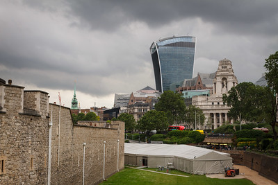 "The Tower of London and The ""Walkie Talkie"" Building"