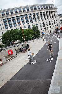 Separated Bicycle Lane On Blackfriars Bridge