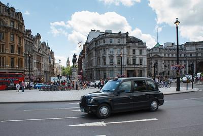 Taxi At Trafalgar Square