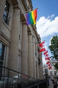 Canada House With Pride Flag