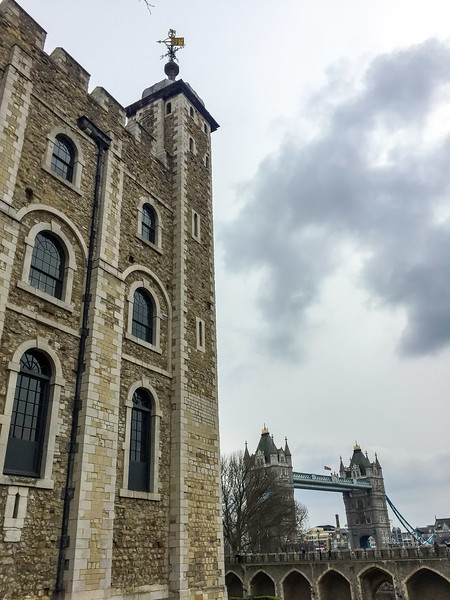 Tower of London and the Tower Bridge