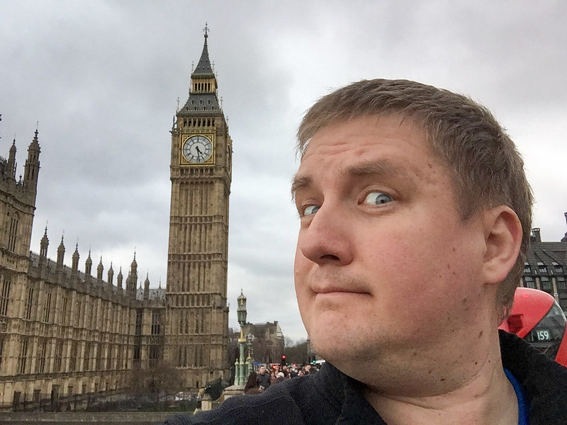Selfie Time - The Elizabeth Tower (the bell inside is Big Ben)