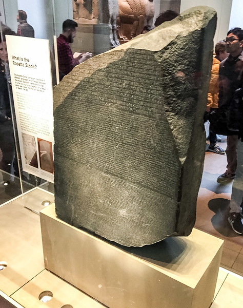 The actual Rosetta Stone!