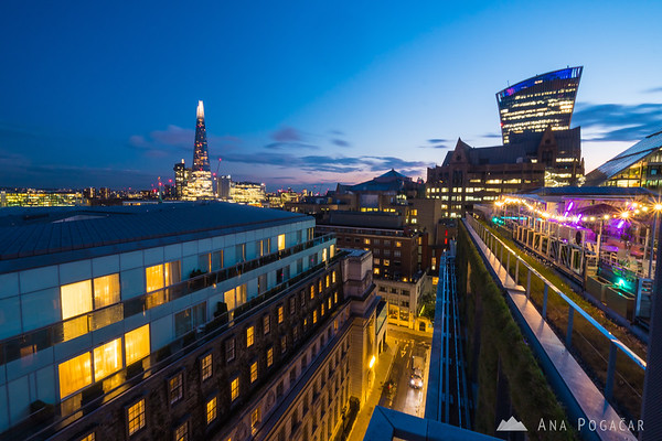 The Shard during blue hour