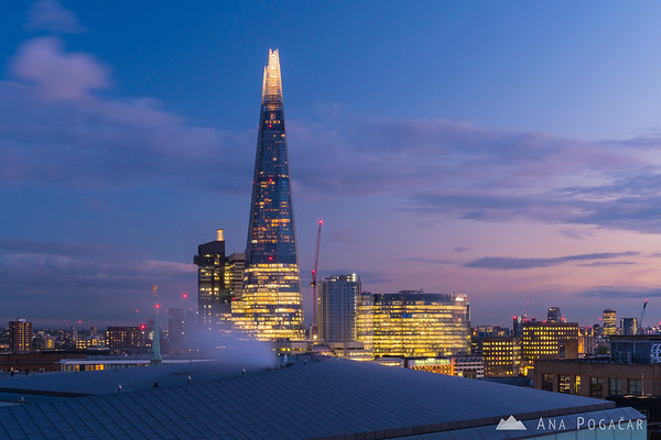 The Shard after sunset
