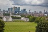 View from Greenwich Observatory, just before the rain.