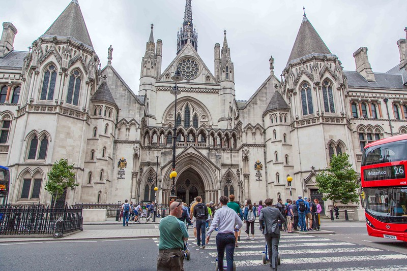 The Royal Courts of Justice. For proof, see next picture.