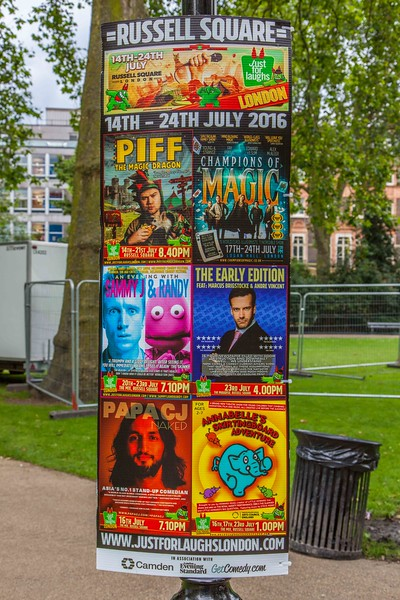 Coming Attractions in Russell Square