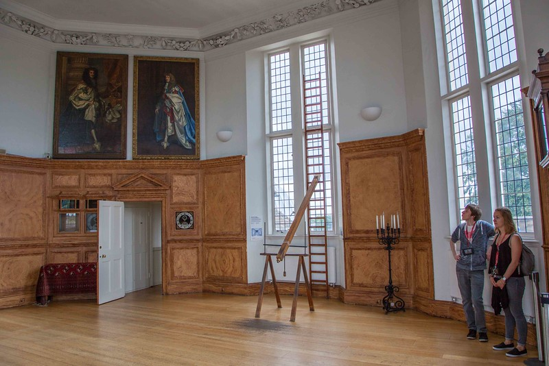 The Octagon Room with several 300 year-old clocks and telescopes.