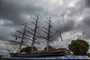 "The Cutty Sark, the boat, not the whisky (No ""e"" in ""whisky"" in scotch.) The Cutty Sark was one of many clipper ships plying the China Seas from the mid-19th century . By the 1920s, the Cutty Sark was the only one left. Now berthed in a dry dock in Greenwich and fully refurbished, she is available to the public for close examination."