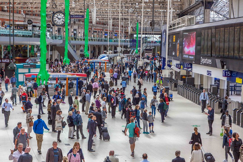 Waterloo Station after the morning rush hour