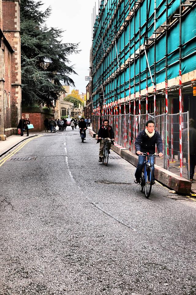 Bike riders in Cambridge.