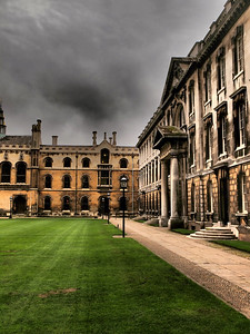 College courtyard at Cambridge.