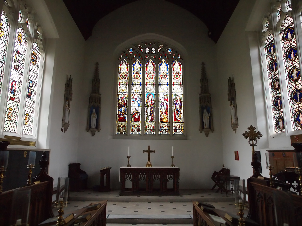 A chapel in a college at Cambridge.