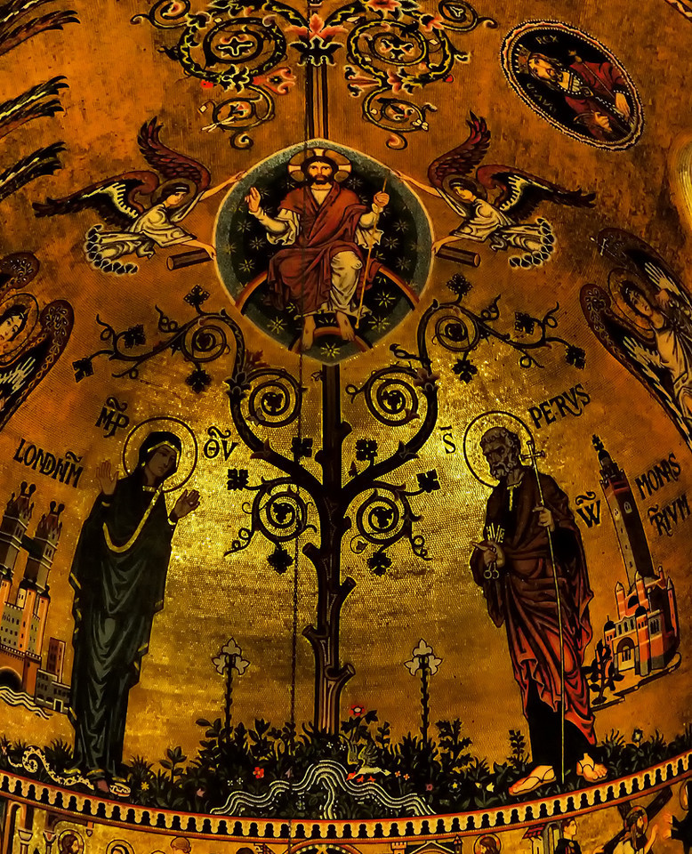 The Byzantine-style dome at Westminster Cathedral, the Catholic Cathedral in London.