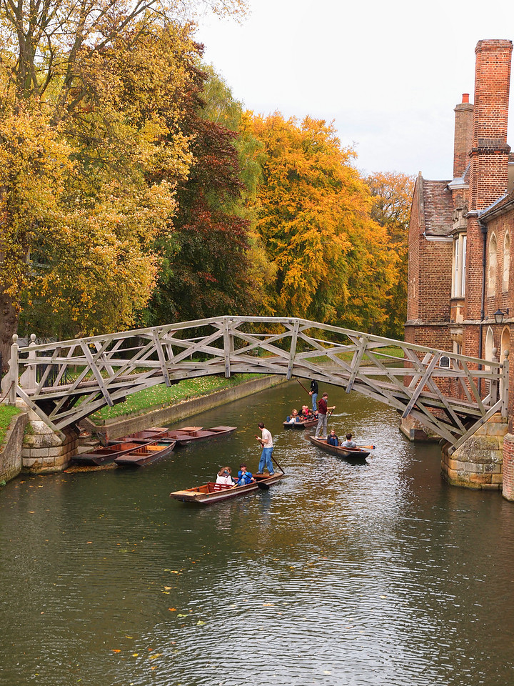 Punting on the river Cam.