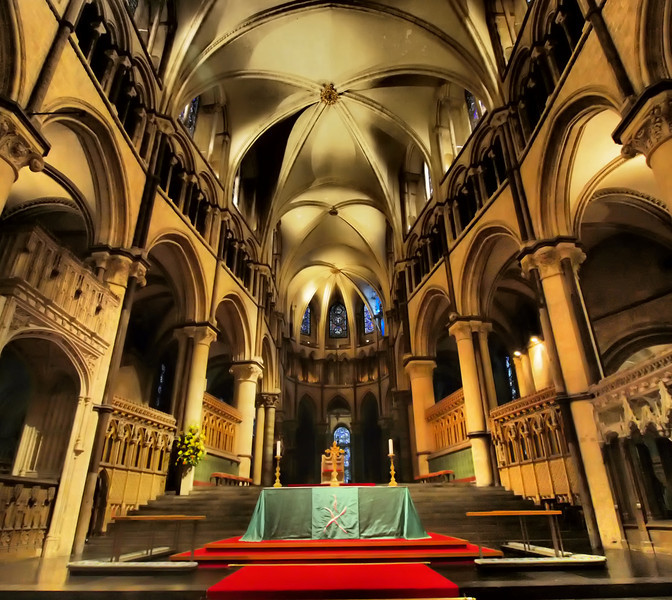 Canterbury Cathedral's altar.