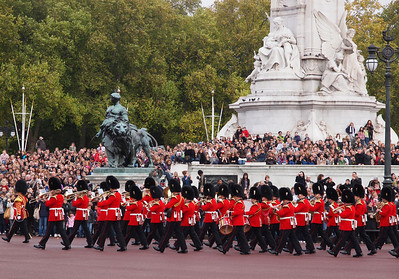 The changing of the guard at Buckingham.