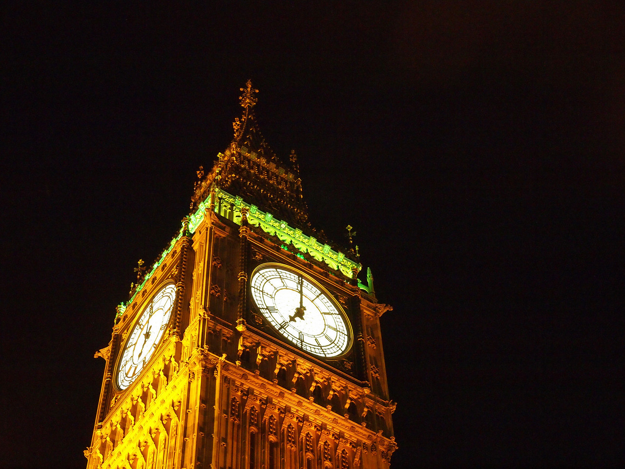 Big Ben at night.