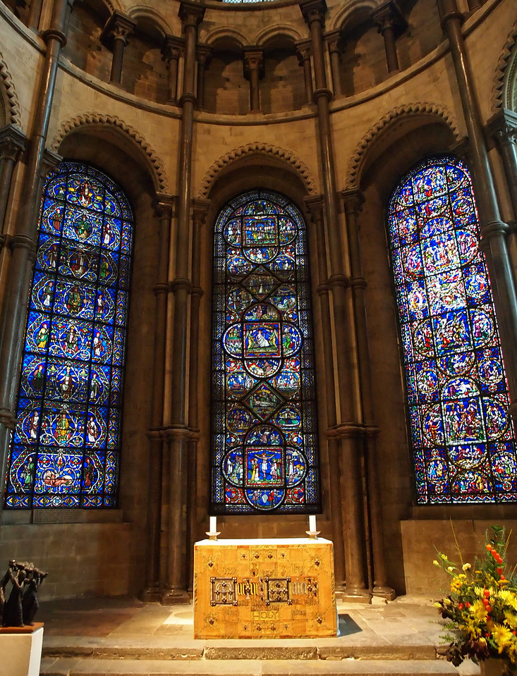 A side altar at Canterbury Cathedral.