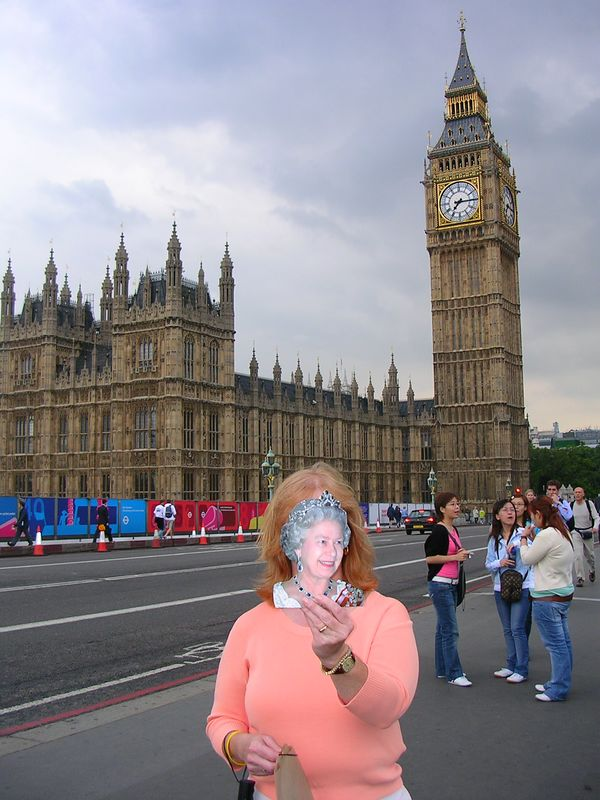 We went to London to visit the Queen ...