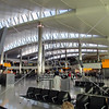 Waiting area on Terminal 2 of Heathrow Airport in London, England.