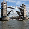 Tower of London bridge in London, England.
