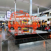 Exhibits at waiting area on Terminal 2 of Heathrow Airport in London, England.