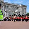Changing of the Guards  Royal Band marching in front of the Buckingham Palace in London, England.