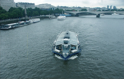 Boat near Embankment Stn