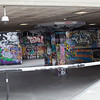 Grafitti and skate park under Queen Elizabeth Hall.