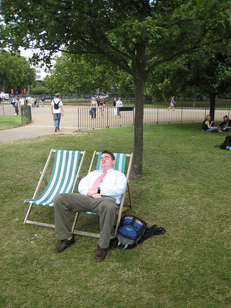 Lounging in Hyde Park before church