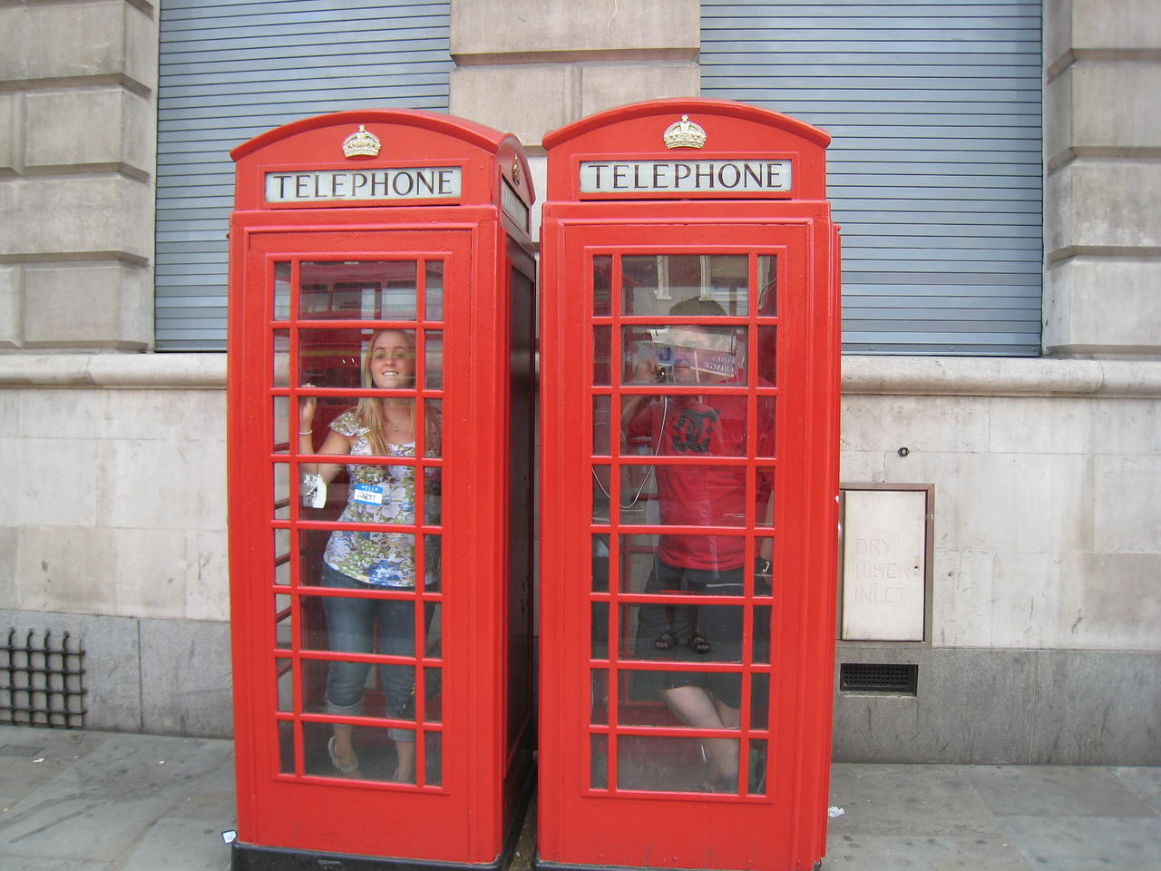 I was calling Courtney. Turns out she was in the phone booth next to me.